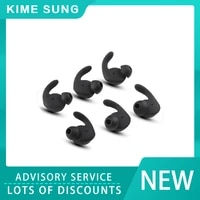 6pcs earbuds cover in ear tips soft silicone skin earpiece ear hook buds replacement for hua wei xsporthonor am61 sports wirele
