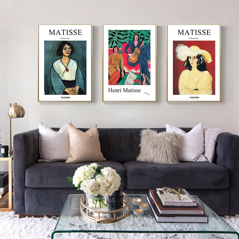 Pósteres e impresiones de moda de Henry Matisse, retrato abstracto, arte de pared para chica, pintura en lienzo, cuadros modulares, decoración nórdica para el hogar