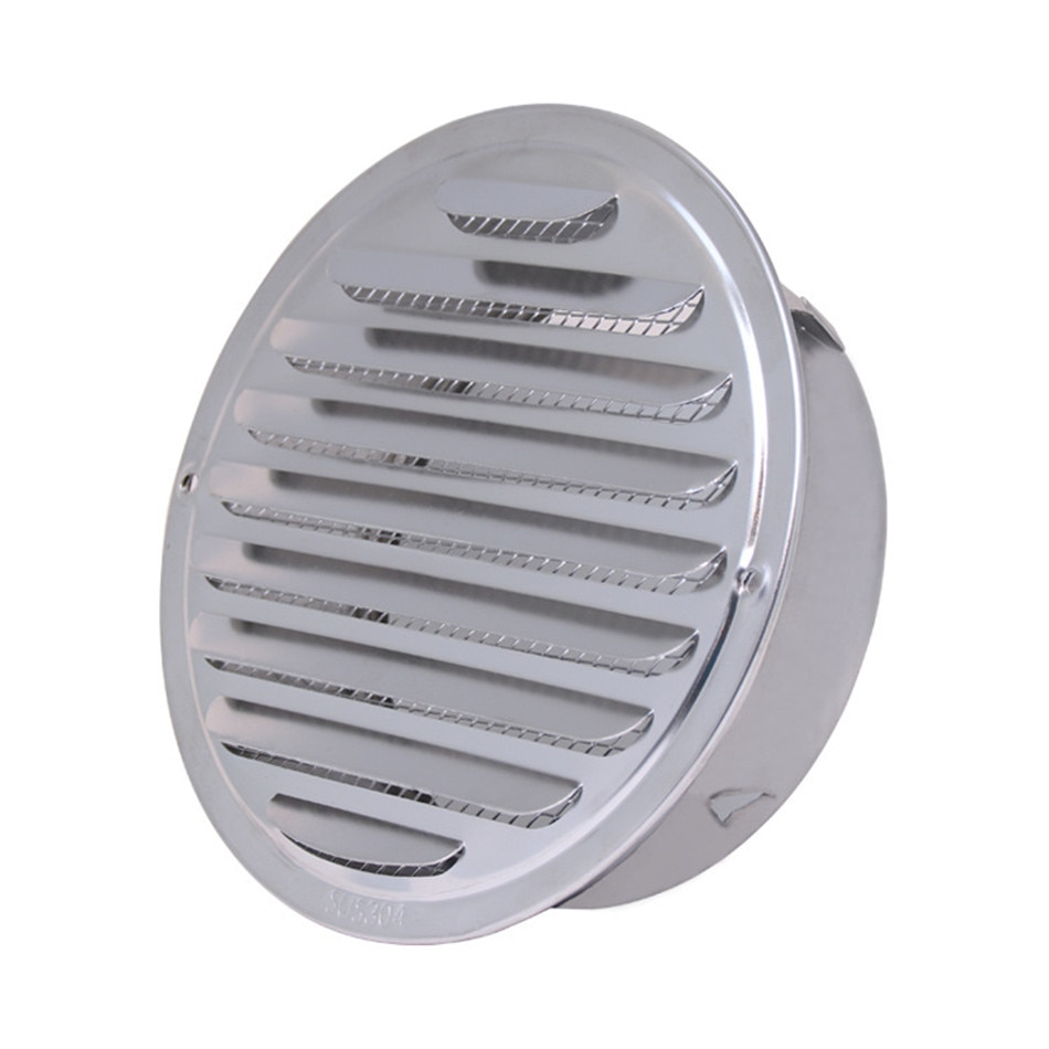 Stainless Steel Exterior Wall Air Vent Grille Round Ducting Ventilation Grilles 70/80/100/120/150/160/180/200mm Air Vent
