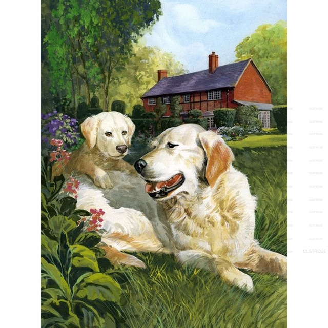 Diamond Painting Diy 5D Southeast Asian Style Acrylic Puppy a Scene Pattern Square Diamond Round Diamond Can Be Customized  - buy with discount