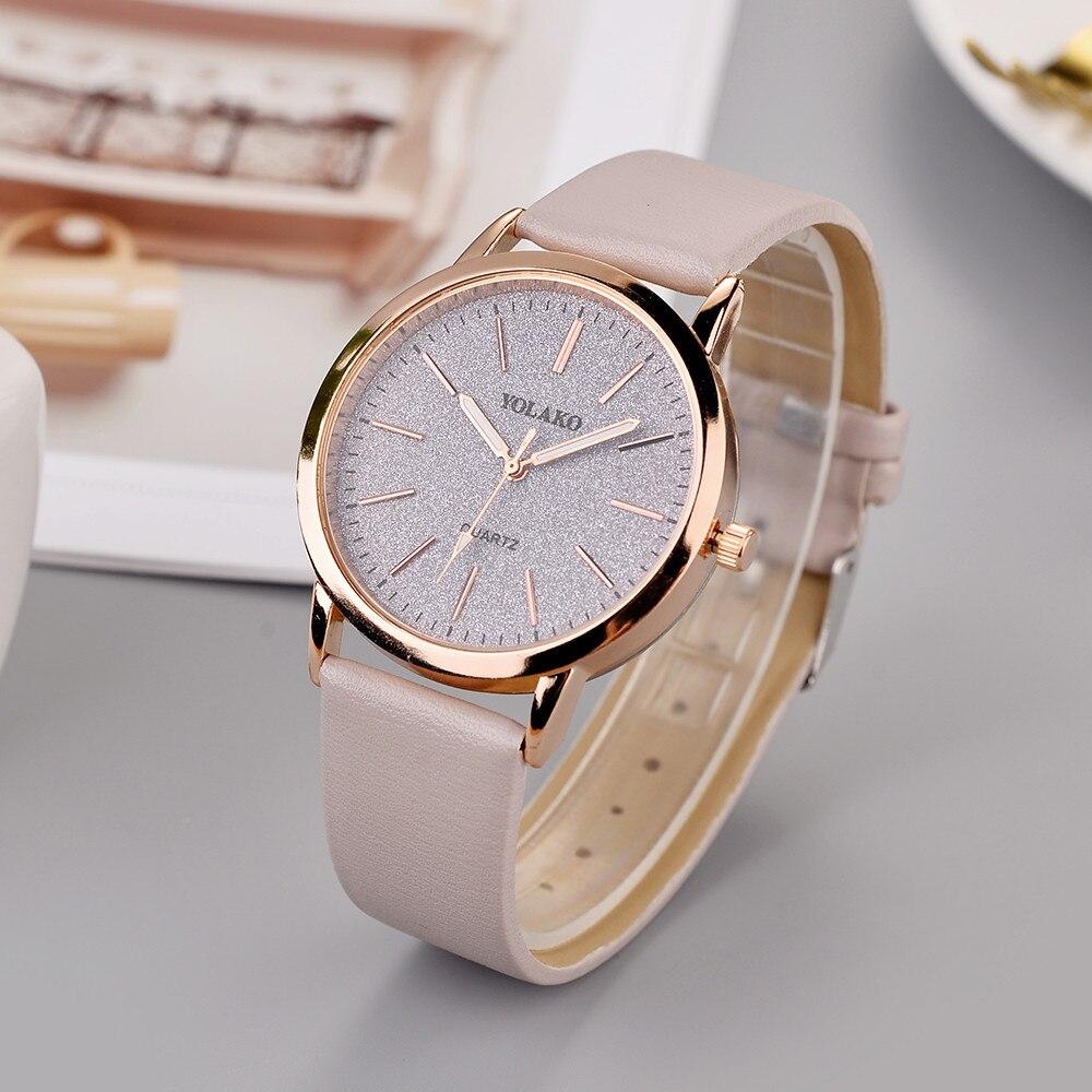 Luxury Brand Leather Quartz Women's Watch Ladies Fashion Watch Women Wristwatches Clock relogio femi