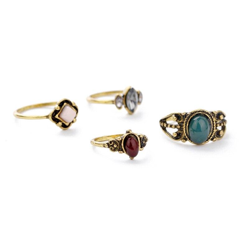 Echsun anillos vintage joyería de piedra de acrílico biżuteria listonoszka bague femme...