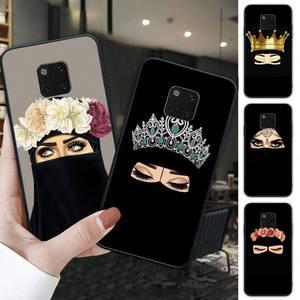 Hijab niqab islam Muslimah Girl black soft phone case cover for Huawei mate 9 10 20 30 lite 9 10 20 30 pro 20X funda