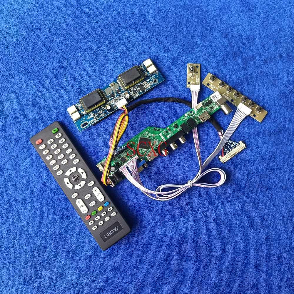 LVDS 30 دبوس HDMI-متوافق USB AV VGA التناظرية إشارة رصد كارت قيادة 1280*1024 ل LM170E01-A4/A5/A6K1/G5/TLA1/TLB3 4CCFL عدة