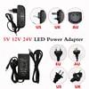 Transformateur d'éclairage adaptateur d'alimentation adaptateur d'alimentation 5V 12V 24V 1a 2a 3a 7a 8a 10a AC 100-240V pour bande 5050 3528 5630 LED