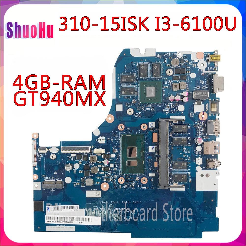 KEFU NM-A751 I3-6100u 4 جيجابايت رام GT940M-2G اختبار الأصلي اللوحة لينوفو 310-15ISK 510-15ISK اللوحة الأم الكمبيوتر المحمول ثينك باد