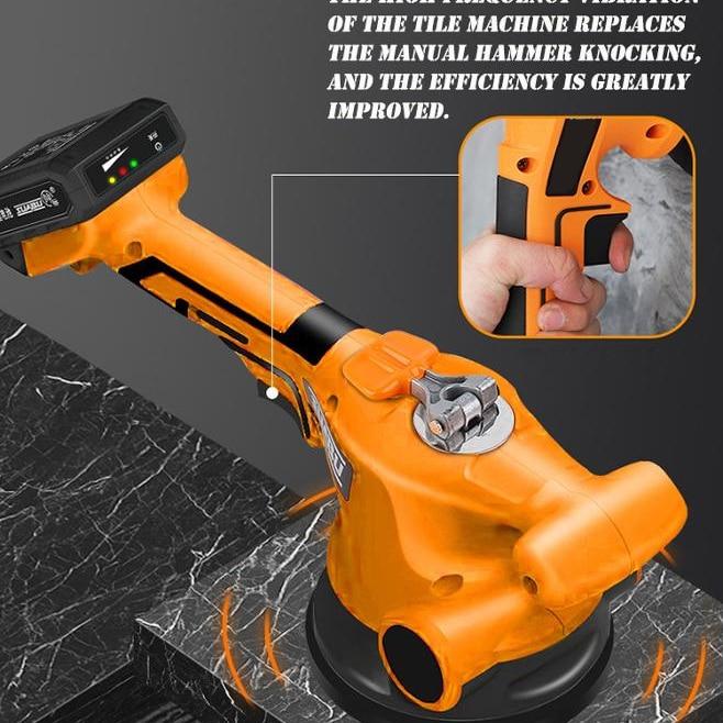 High Capacity Lithium Battery 100mm Concrete Leveling Tools Uniform Vibration Without Breaking Bricks enlarge