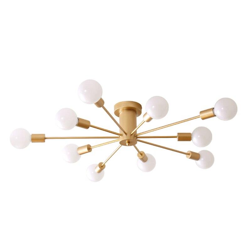 Luces de techo Retro, múltiples lámparas Base E27 6/8/10 cabezas negro/Blanco/sala de estar dorado para/comedor, lámpara de techo Vintage