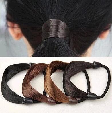 1 Uds. Soporte de cola de caballo de pelo sintético trenzas banda elástica de goma trenza anillo de pelo cuerda Accesorios para peinados envío gratis