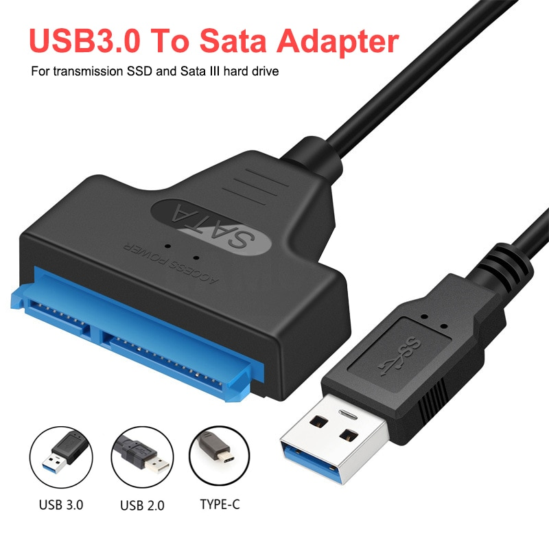 USB SATA 3 Cable Sata To USB 3.0 Adapter UP To 6 Gbps Support 2.5Inch External SSD HDD Hard Drive 22 Pin Sata III A25 usb 3 0 sata 3 cable sata to usb 3 0 adapter up to 6 gbps support 2 5 inches external hdd ssd hard drive 22 pin sata iii cable
