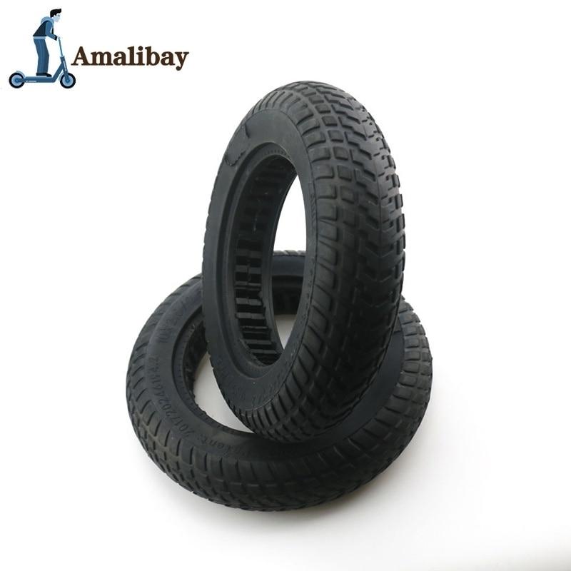 Neumático de Scooter eléctrico de 10 pulgadas para Xiaomi M365 10X2/10X2,5, neumático sólido de amortiguación, neumáticos de goma para M365 M365 Pro