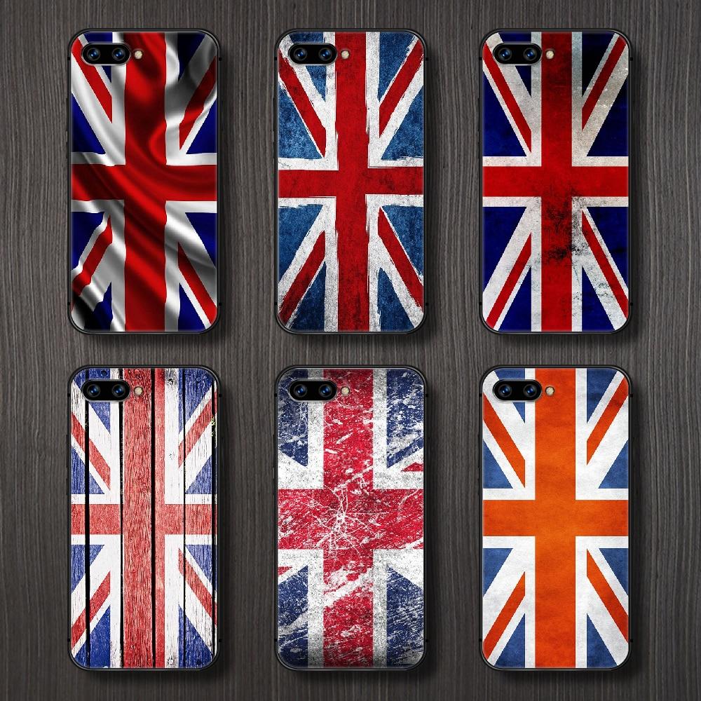 British flag Phone Case Cover Hull For HUAWEI honor 8 8c 8a 8x 9 9a 9x V10 MATE 10 20 I lite pro bla