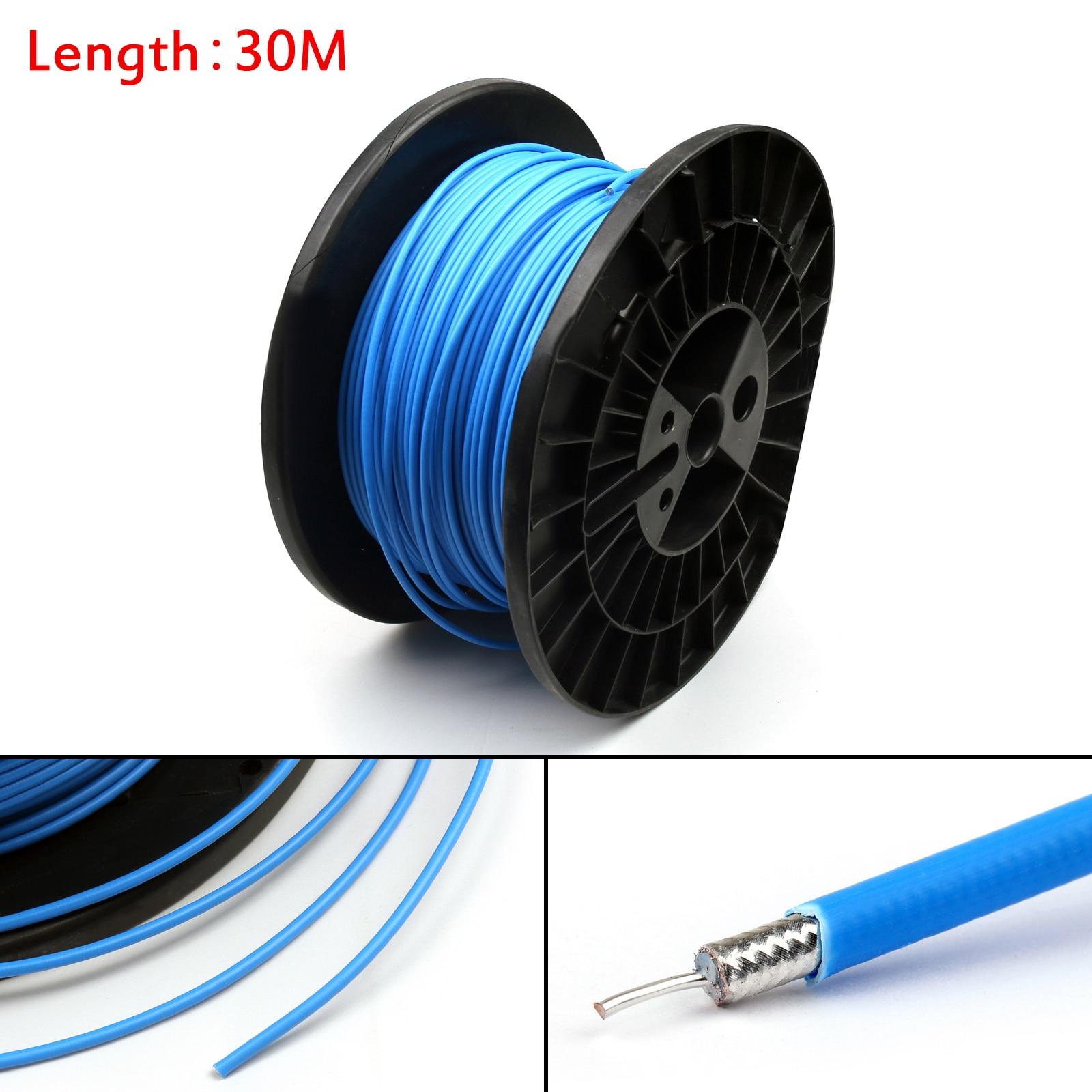 Areyourshop RG402 Cable Coaxial RF conector Semi-rígido RG-402 Coaxial flexible 10m 30m nuevo Cable conector