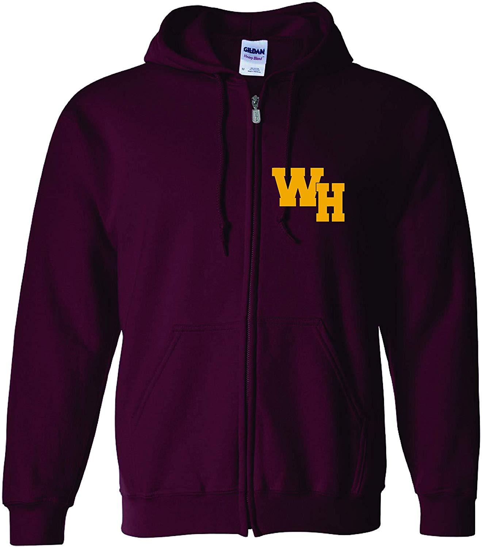 Adult Full Zip Hoodie Sweatshirt WH West Ham Men Women Hoodie Sweatshirt