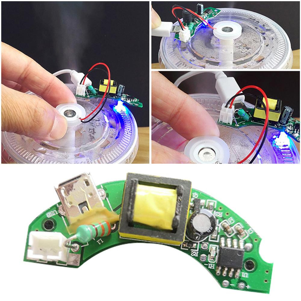 DIY Humidifier Driver Board Repair Ultrasonic Atomization Discs Film Handwork Spray Room Home Moisturizing Circuit Accessories