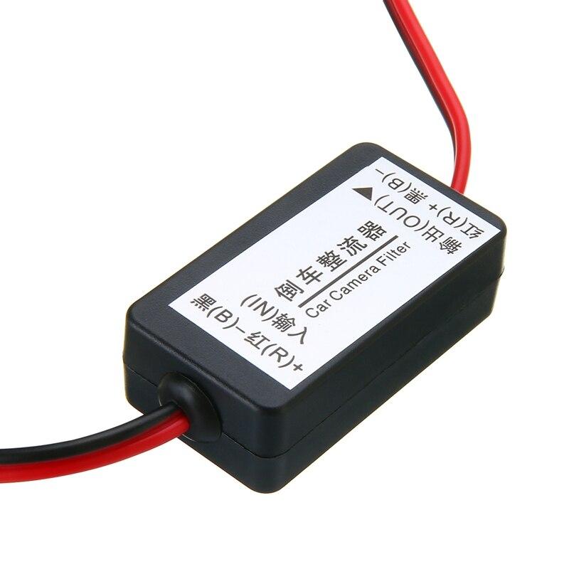 12V relé de potencia cc filtro del condensador conector rectificador para Vista trasera de coche cámara de respaldo rectificador accesorios de filtro de cámara de coche