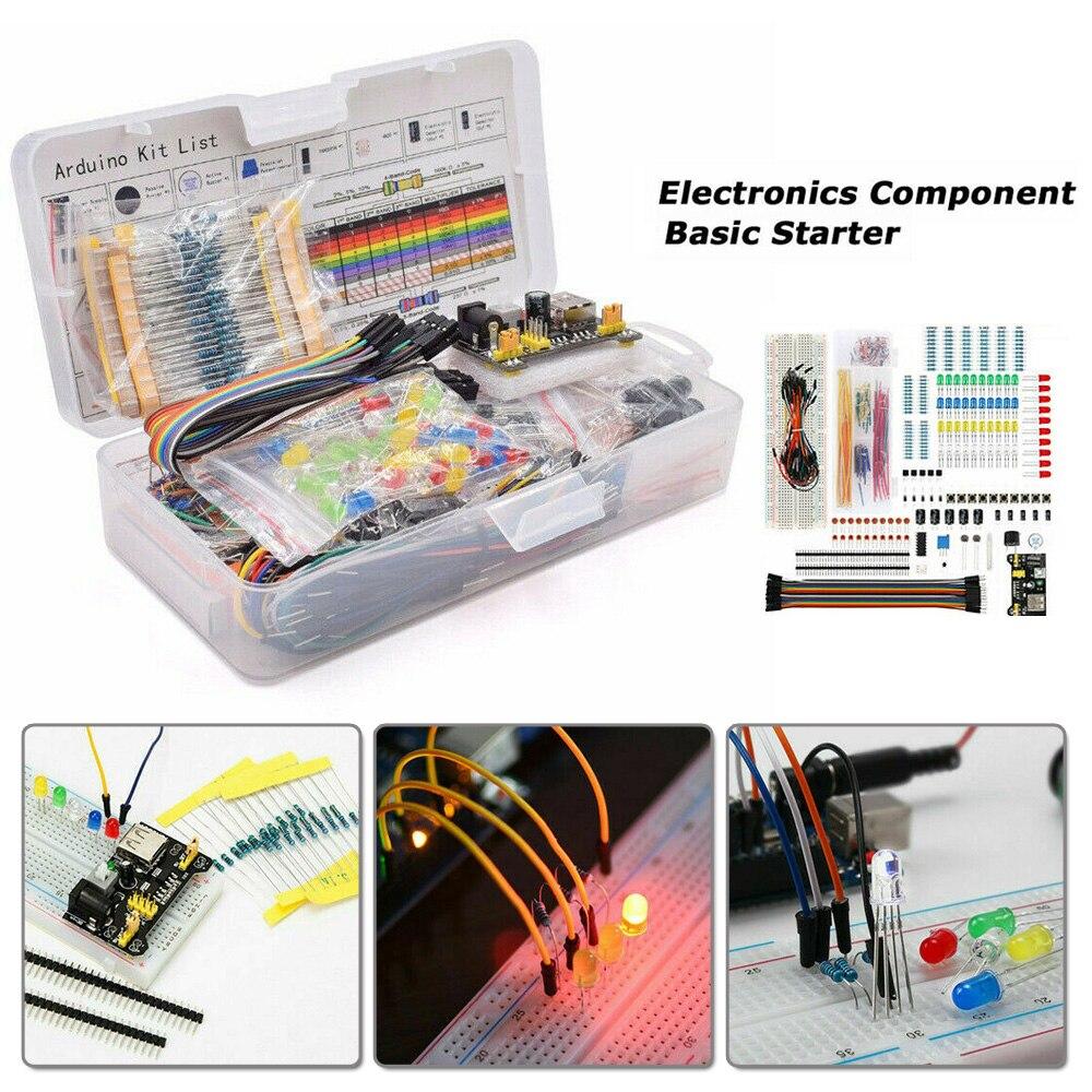Kit de iniciación de componentes electrónicos de placa de pruebas de punto de conexión 830 830 para Arduino