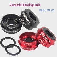 MEROCA BB30 PF30 22 24mm Tooth-plate Crankset Axis Bottom Ceramic Shaft Bearings Peilin Pressure Entry