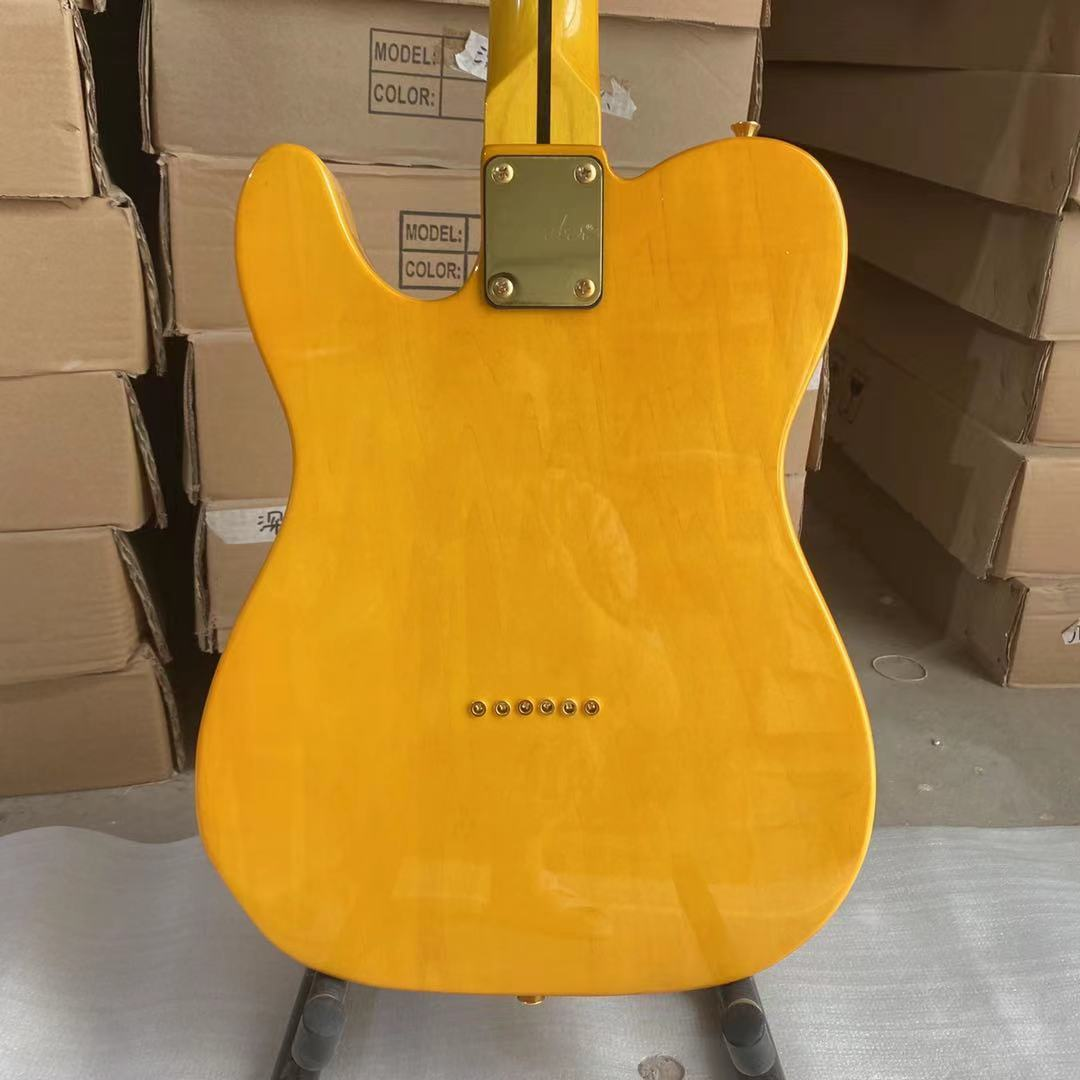 Tele Electric Guitar Burl Maple Top Basswood Body Maple Fingerboard Golden Hardware High Quality Guitarar Free Shipping enlarge