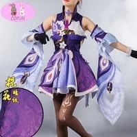 new game genshin impact keqing cosplay costume halloween costumes for women mixed purple