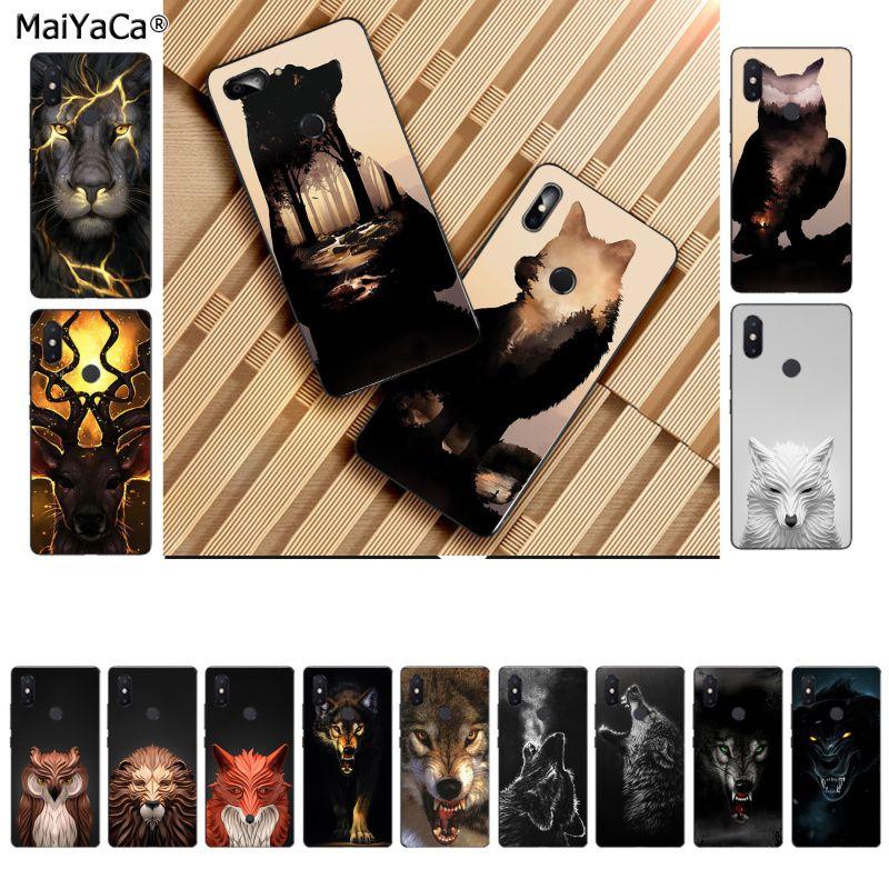 MaiYaCa, animal abstracto, avatar, León, Lobo, oso negro, ciervo, hermoso funda de teléfono para Xiaomi, 8 9, se, Redmi 6 pro, 6A, 4X 7, note 5 7