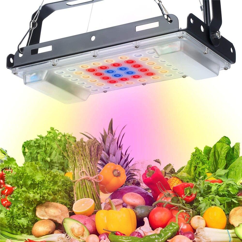 Luz LED de cultivo para interiores, 800W, lámpara Phyto de espectro completo, lámpara para plantas, luces crecimiento para tienda de plantas, blanca cálida, resistente al agua, Fitolamp Led