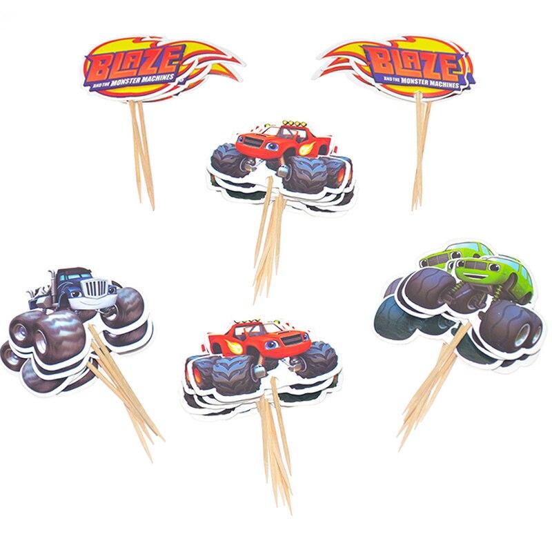 Blaze Monster Machines дизайн украшения торт Топпер чашки тарелки Дети сувениры ребенок душ посуда стеклянная посуда для вечеринки в честь Дня рождения набор