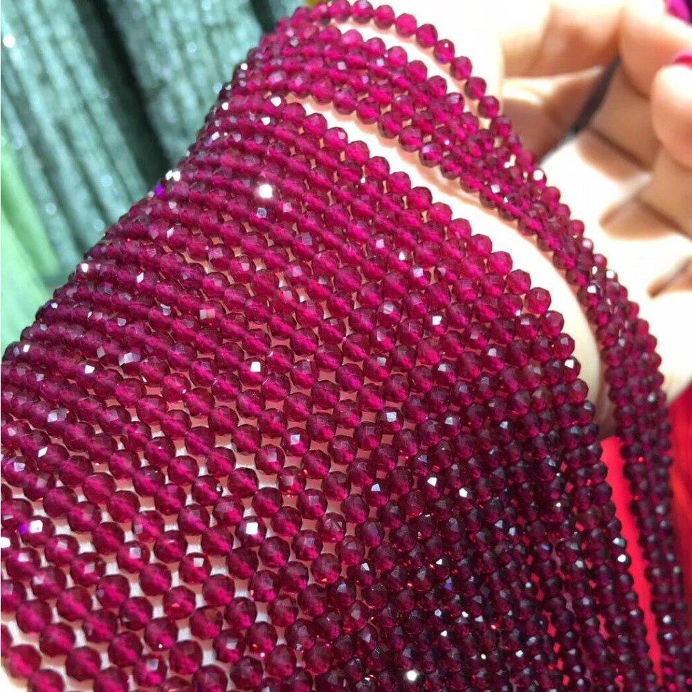 Cuentas pequeñas cuentas de piedra Natural turmalina Sapphir 2,3, sección 4,5mm cuentas sueltas para hacer joyería collar DIY pulsera (38 cm)