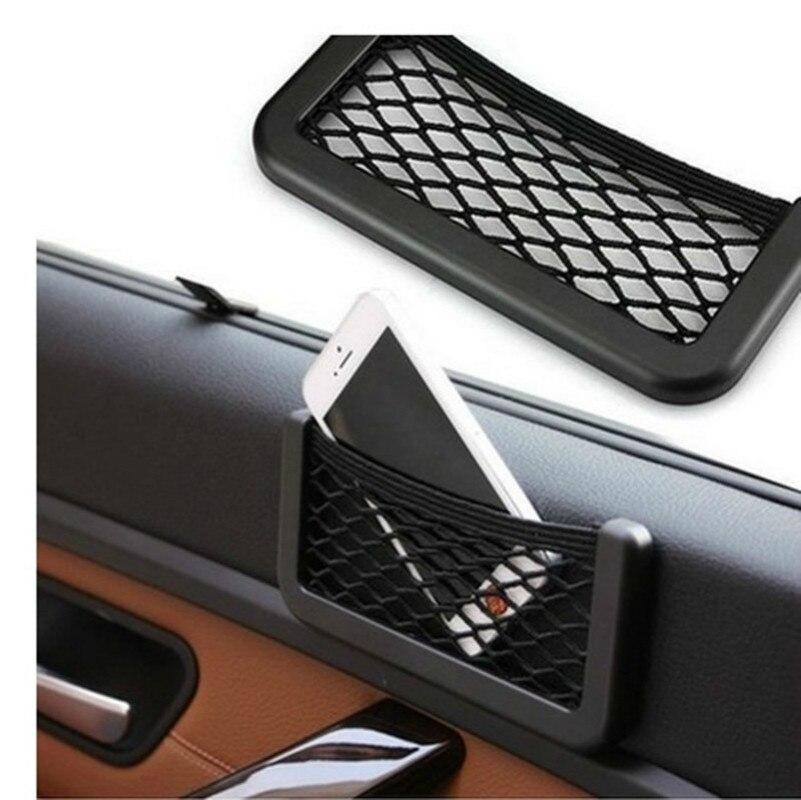 Para Toyota audis 2013-2017 E180 bolsa de red de coche soporte de teléfono de almacenamiento de bolsillo organizador de malla de coche soporte de red de maletero de bolsillo