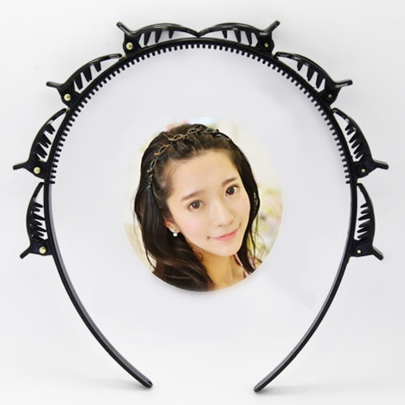 Black Braider Hair Clip Burst Pin Hairdo Bring Hair Hoop Multi-storey Wisp Air Weave Head Hoop Styling Tool