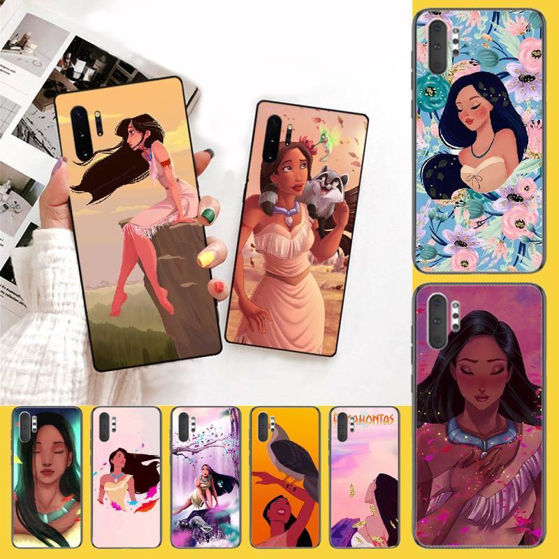 NBDRUICAI Pocahontas Black Soft Shell Phone Case Capa for Samsung Note 3 4 5 7 8 9 10 pro M10 20 30