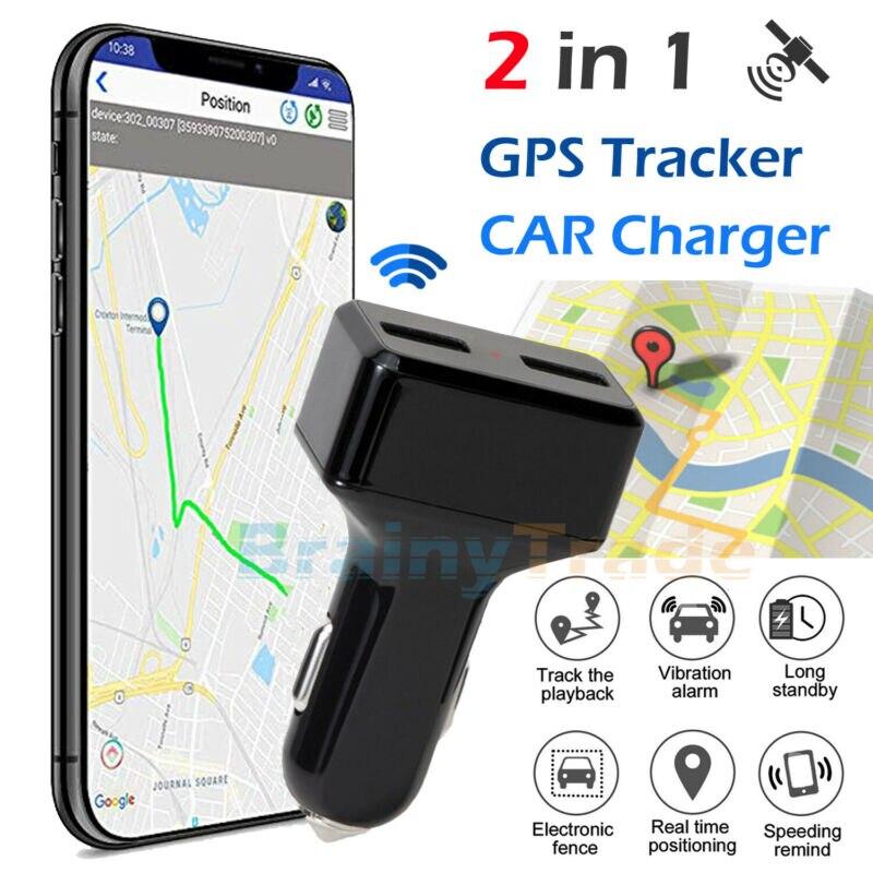 Dispositivo de seguimiento de vehículos en tiempo Real rastreador GPS de coche y cargador USB con Audio en vivo