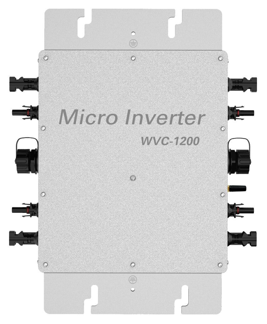 1200w en la red inversor Micro inversor monitoreo inteligente sistema de panel solar de red integrada para la red de carga de energía en el hogar