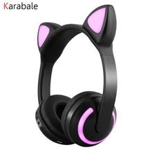 ZW19 TWS Katze Dame Bluetooth 5,0 Kopfhörer HD Stereo Bass Drahtlose Cartoon Kopfhörer Noise Cancelling Headset Mädchen geschenke