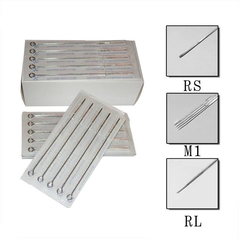 Surtido esterilizado agujas de tatuaje 10 piezas RL/RM/M1 maquillaje permanente