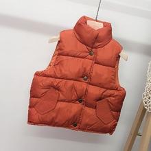 2020 kids clothes girl boy autumn winter warm vest children outerwear