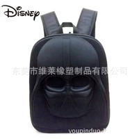 disney star wars 3d three dimensional cartoon backpack black warrior computer bag school bag white soldier backpack