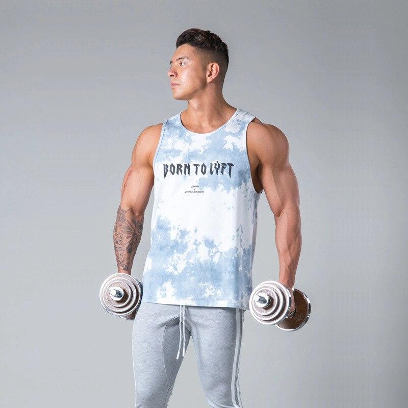 Summer Brand Running Clothing Gyms Fitness Workout Singlet Sling Vest Men Bodybuilding Tank Top Camouflage Sleeveless Shirt men