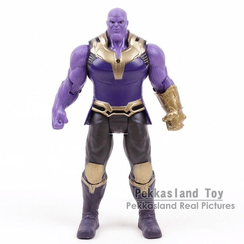 Los vengadores de Marvel 3 Infinity War articulaciones movibles Thanos figuras de acción niños juguetes regalos para niño 17cm