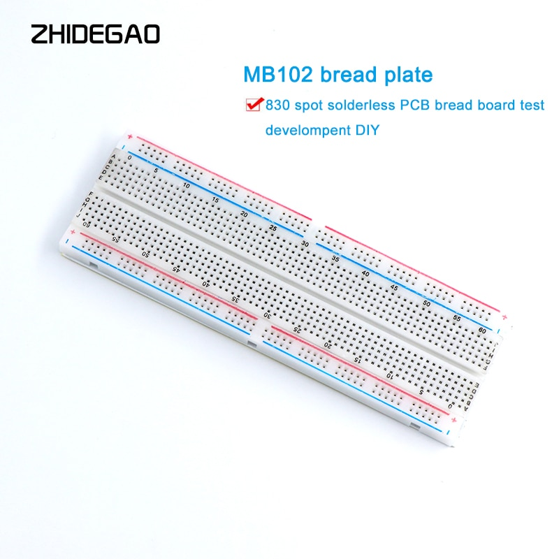 NEW MB-102 MB102 Breadboard 830 Point Solderless PCB Bread Board Test Develop DIY for arduino laboratory SYB-830