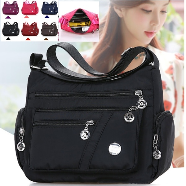 2020 Fashion Women Shoulder Messenger Bag Waterproof Nylon Oxford Crossbody Bag Handbags Large Capac