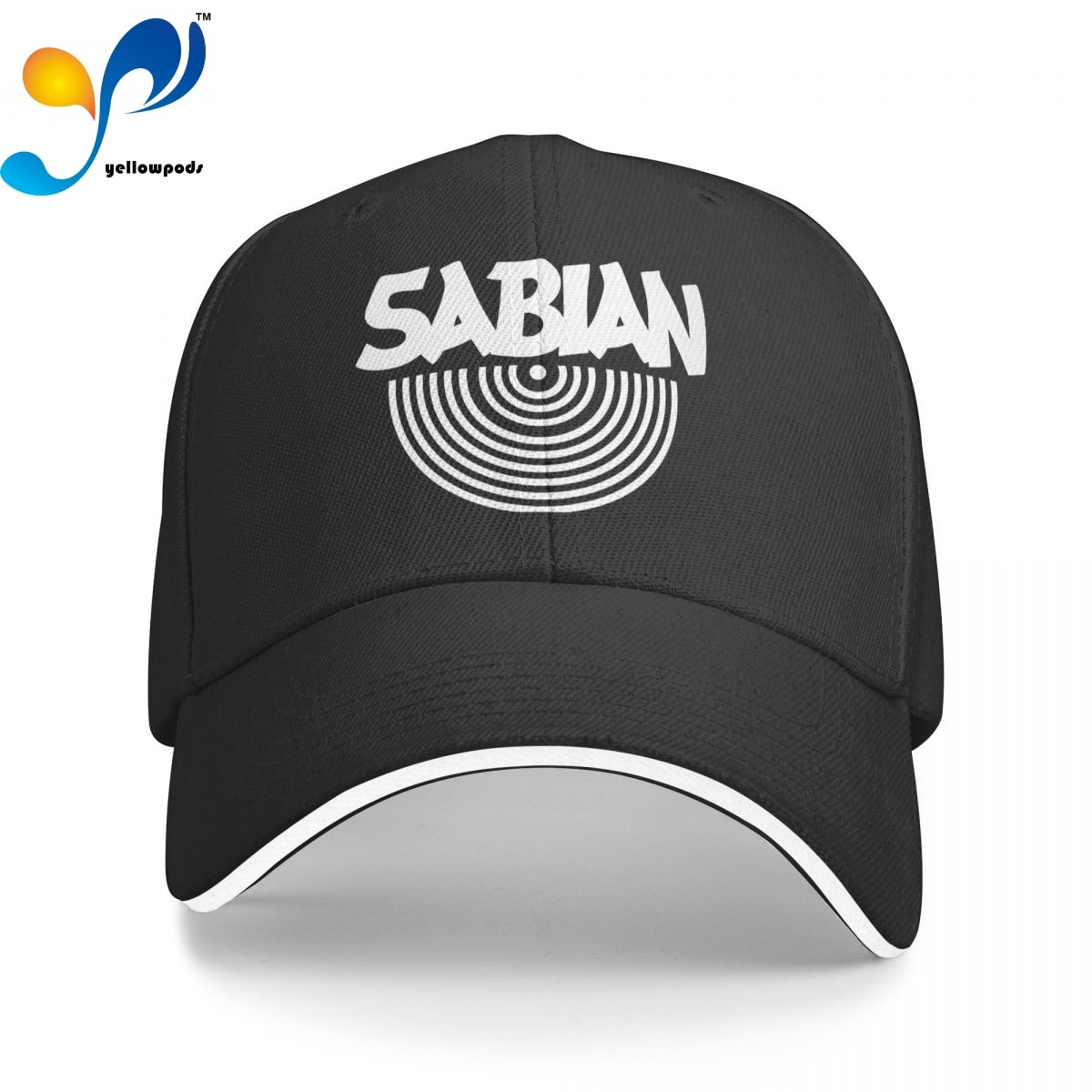 Бейсболка унисекс с логотипом Sabian Cymbals, регулируемые бейсболки, шапки с клапаном для мужчин и женщин