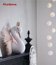 Animal tête cygne flamant rose décor mural licorne ours suspendu montage en peluche peluche jouet princesse poupée fille enfant cadeau