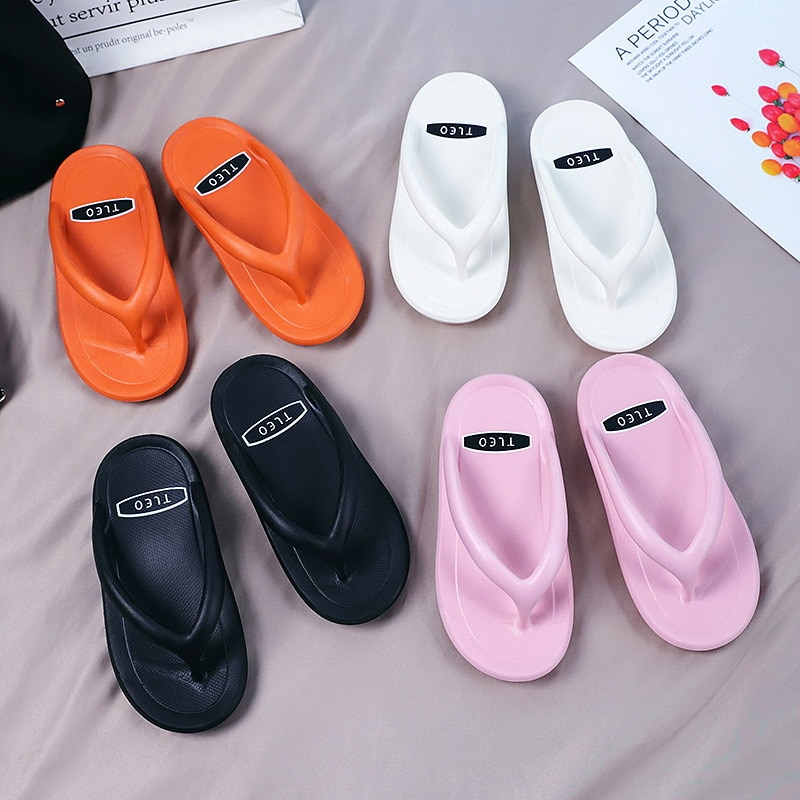 new arrival women summer sandals slippers leisure soft flip flops striped round toe casual shoes high quality beach slippers s Summer Slippers Women Casual Massage Durable Flip Flops Beach Sandals Female Wedge Shoes Striped Lady Room Slippers