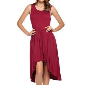 Fashion Casual Dress Women Sleeveless Plus Size Elegant Formal Party Dress