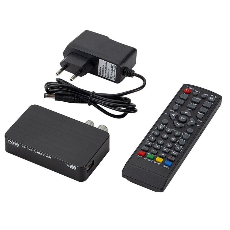 Nuevo Mini modelo de señal fuerte HD DVB-T2 K2 decodificador DVB-T2 Full HD 1080 P Digital tierra receptor DVB-T MPEG-4 sintonizador de TV