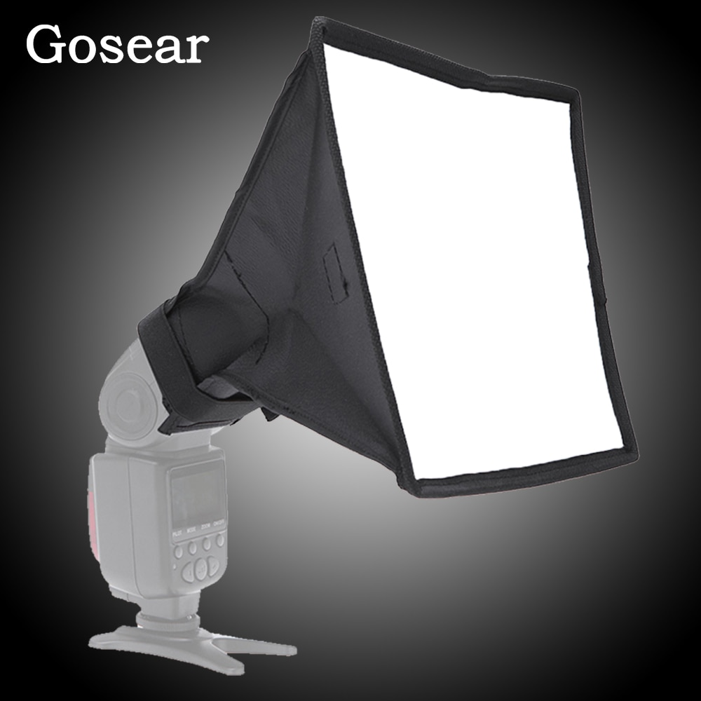 Gosear Universal Photo Difusor Flash Light Diffuser Softbox Soft Box for Canon Nikon Sony Pentax DSLR Cameras Accessories