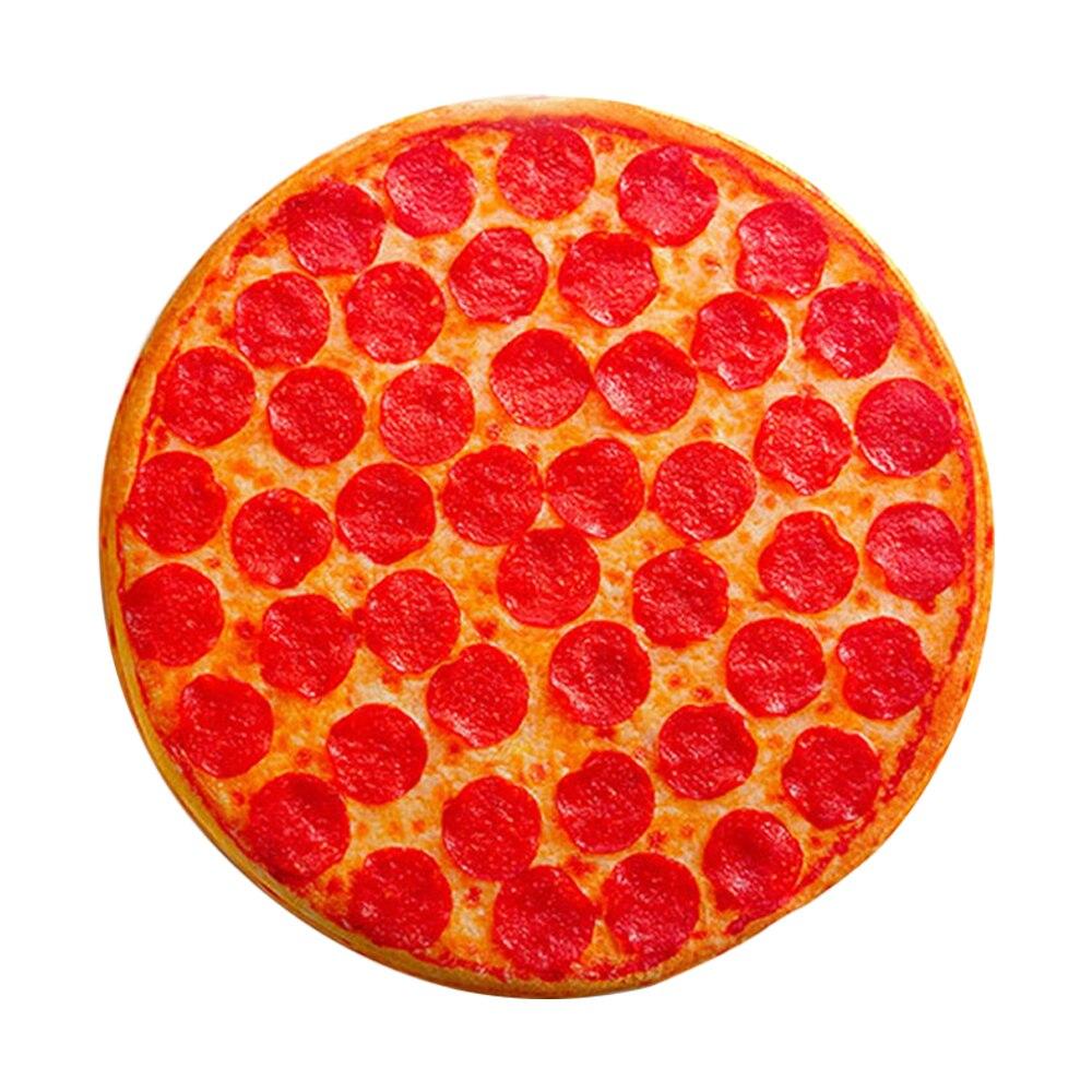 وسادة ثلاثية الأبعاد ، محاكاة إبداعية ، وسادة قطيفة ، مبهجة ، طعام ، بيتزا ، محب ، كول ، بيتزا