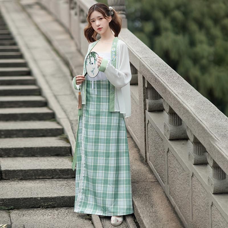 Ancinet الصينية Hanfu فستان امرأة التقليدية الجنية التطريز ملابس رقص سلالة تانغ خمر الأميرة الملابس DL6769