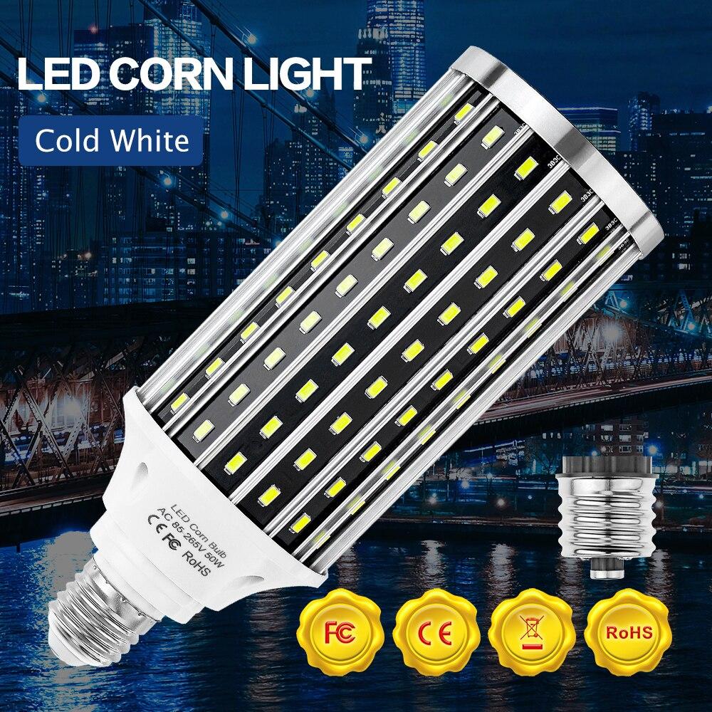 Фото - Светодиодная лампочка E27 220 В, лампочка-кукуруза E39, лампочка-свеча 240 в, светодиодная лампочка 5730, люстры 110 В, лампочки для домашнего освещени... лампочка